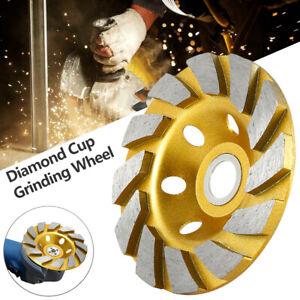 100mm Diamond Segment Grinding Wheel Cup Disc Grinder Concrete Granite Cut Stone