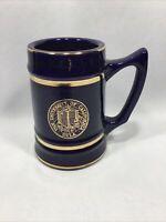 Vintage University Of California Dark Blue Ceramic Mug Stein Tankard College