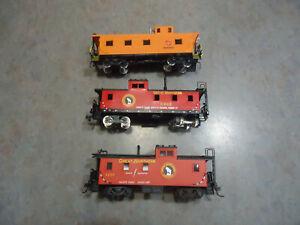 HO Train 3pc lot caboose Ajin / Tenshodo brass