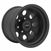 Pro Comp 69 Series Vintage, 15x10 Wheel with 6 on 5.5 Bolt Pattern - Matte Black