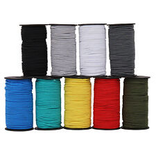 ELASTIC BUNGEE ROPE SHOCK CORD TIE DOWN HEAVY DUTY 4MM VARIOUS COLOURS