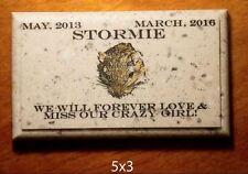 "Custom Pet Memorial Grave Marker 5""x3"" Headstone Stone Plaque Dog Cat Gerbil"