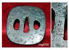 TSUBA for samurai KATANA,Sig.KUNIHIRO,concise design,Edo,iron/og070/