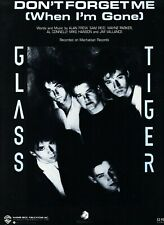 GLASS TIGER DON'T FORGET ME WHEN I'M GONE SHEET MUSIC-PIANO/V/GUITAR/CHORDS-1986