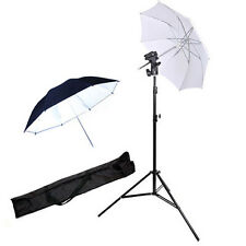 2 Umbrellas+2m Light Stand+Flash/Umbrella Mount Bracket Portable Speedlight kit