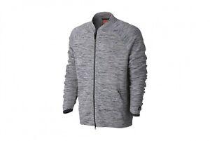 Nike Tech Knit Jacket - SZ 3XL - 832178-060 Zip Carbon Heather Grey Black Bomber