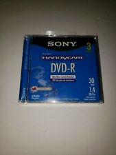 Sony Handycam Dvd-R 30 Min 1.4 Gb Single Sided Monoface 3 Pack Dvd Mini Disk