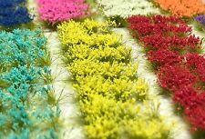 Miniature Model Self Adhesive 6mm Static Grass Tufts - Summer Flower Sampler
