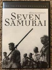 Seven Samurai (DVD, 1998, Criterion Collection) In Great Condition!!!