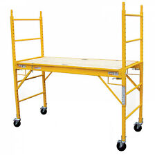 Multipurpose 6Ft Scaffolding Steel Rolling Professional Locking Casters Platform