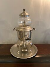 Antique Sternau Coffee Machine Percolator Nickel Finish Complete Glass & Burner