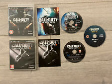 Call Of Duty Black Ops 1 & 2 PS3 With Preorder Digital Content Disk RARE