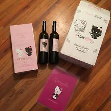 Camomilla Italy Hello Kitty Angel Devil Wine Bottle Set Empty