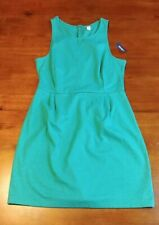 Old Navy Women Green XL 16 Shift Dress Sleeveless Thick Material Tank U Neck
