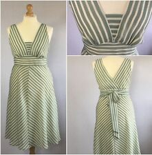 George Ladies Green Stripe 50s Retro Fit Flare Summer Dress UK Size 16/18
