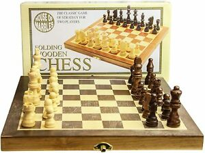 House Marbles Standard Folding Wooden Pieces Chess Set Easy Storage Easily Great