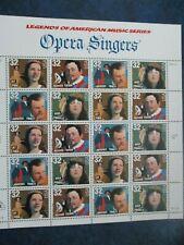 LEGENDARY OPERA SINGERS U.S. STAMP SHEET  #3154-3157