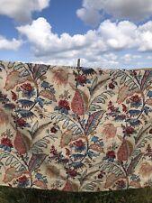 More details for rare arthur sanderson vintage linen curtains plantation
