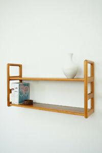 50er 60er Dyrlund Teak Wall Shelf Regal Wandregal Danish Design Teakwood 50s 60s
