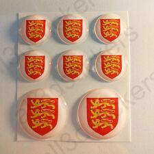 Pegatinas Inglaterra Escudo de Armas Vinilo 3D Relieve Pegatina Inglaterra Moto