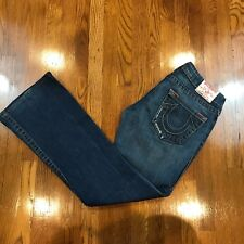 True Religion Bobby Women Medium Wash Thick Stitch Boot Cut? Jeans 26 Distress