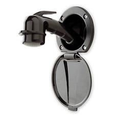 Shurflo Ambassador Recessed Shower RV Boat Transom Wash Down Kit, 6' Hose, Black