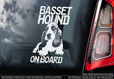 Basset Hound - Dog Car Window Sticker - Dog Sign, Bassethound Hush Puppy - TYP1