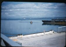 1950s red border Kodachrome Photo slide US navy Guantanamo Bay base Cuba #9 ship