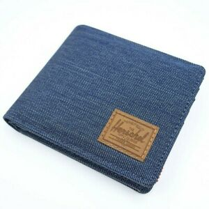 Herschel Supply Co. Men's Roy Bi-fold RFID Blocking Card Wallet Indigo Saddle