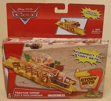 NEW DISNEY PIXAR CARS DIECAST CAR STORY TRACK SET TRACTOR TIPPIN PLAY & LAUNCHER