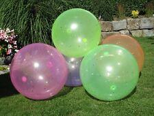 Aufblasbarer Jumbo Jelly XXL Ball Riesenball mit Glitzer Riesenblase 90cm 46005
