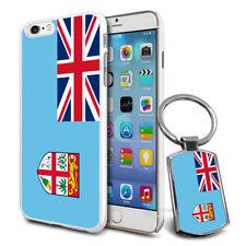 Fiji Flag Hard Case Cover & Free Keyring For Various Mobiles