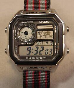 "Casio ""Casio Royale"" World Time AE1200WHD-1A James Bond Mod"