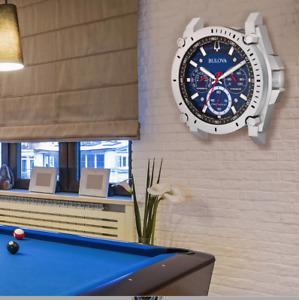 New Bulova Watch Wall Clock C9889 Precisionist II Watch Decor In Box
