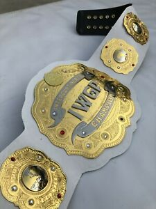 IWGP Intercontinental Championship Belt Replica, 2mm Brass Plates, Cow Leather