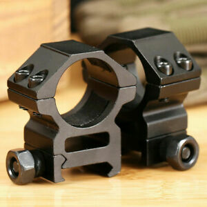ACTIVE-8 Rifle Scope Mount 25.4mm Rings Picatinny Rail Adapter Pistol Airsoft