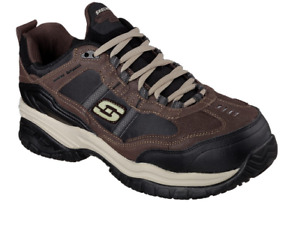 Skechers Work Relaxed Fit 77013: Soft Stride - Grinnell Comp (Brown/Black)