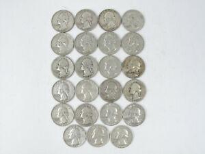 23 Washington Quarters pre-1964 Circulated 1937-1963 Various