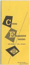 Cinema Engineering Brochure 'Encapsulated Resistors Wire-Wound-Fixed Accurate'