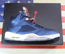Nike Air Jordan V 5 Retro Bronze Obsidian Blue Basketball 2013 [136027-416] - 11