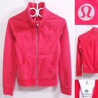 Lululemon Define Zip Up Jacket Size 2 XXS Red Orange Running Sweatshirt Yoga