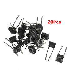 20 Pcs 6x6x4mm Momentary Tactile Push Button Switch 2 Pin DIP Through ED
