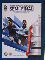 Chelsea v Manchester City - FA Cup Semi Final 2013 Programme