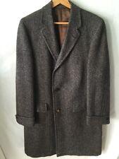 Vintage Harris Tweed Long Coat Overcoat Preppy Rockabilly 50's 60's