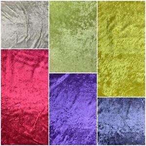 Glitz Ice Crushed Velvet Upholstery Crafts Fabric Single Net Backing