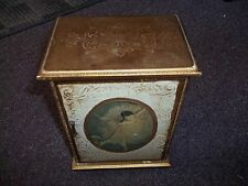 vintage Royal Crest 3 drawer wood Jewerly music box gold painted balerina on fro