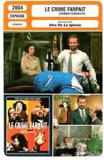 FICHE CINEMA : LE CRIME FARPAIT - Alex De La Iglesia 2004 Ferpect Crime
