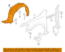 Acura HONDA OEM 13-15 ILX-Front Fender Liner Splash Shield Right 74101TX6A01