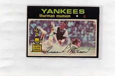 1971 OPC O-PEE-CHEE Baseball THURMAN MUNSON #5 NICE CONDITION