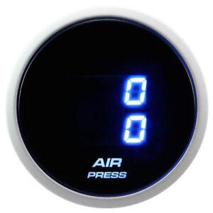 52 mm Dual Suspension Auto Air Pressure Gauge Digital Blue LED  Smoke Lens BAR